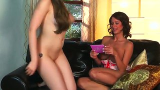 Emily Addison And Gf Expose Tits During Interview