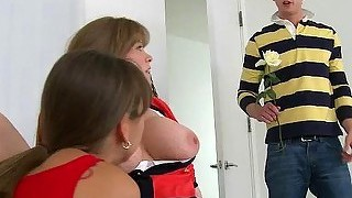 Stepmom Darla And Teen Hungry For Cock