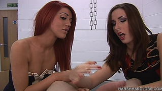 Paige Turnah And Megan Paige In Harsh Handjobs