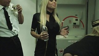 Busty stewardess katsuni crazy threesome