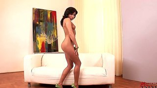 Check out with mind-blowing glamourous brunette babe ginger showing her perfect body