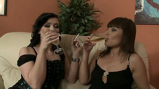 Ally Style And Sylvia Laurent Get Tiddly And Sexy At Home In A Lesbian Bonanza