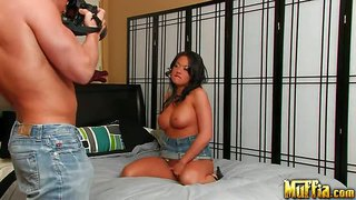 Mia lelani - perfect latina diva is being licked all over