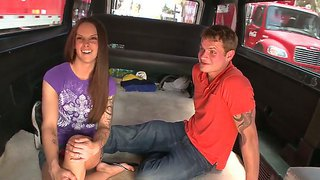 Crazy And Hot Bang Bus Update With Sweet Brunette Krystal Main And Amateur Dick
