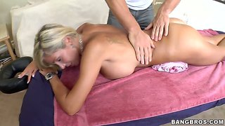 Cute massage and wild dirty sex with evita pozzi after that