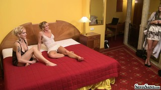 Silvia saint and two other smoking hot lesbians in a hot threesome scene