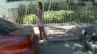 Skinny latina tiffany pick uped and invited to get in my car for a hot ride