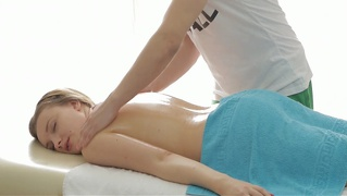 Russian Teen Fucked After Massage