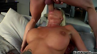 Sexy Blonde Involved In A 3Some! Both Boys Fucked Her Ass!