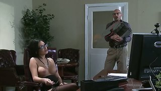 Johnny Sins Seduces His Bitch Boss With Giant Boobs