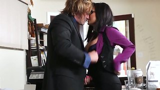 Sexy Secretary Eva Angelina Drilled By Her Boss