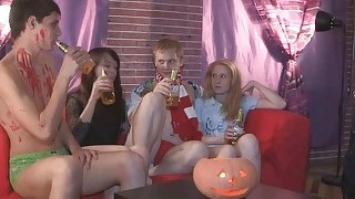 Young Sex Parties  Halloween Home Sex Party