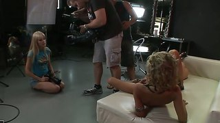 Amirah Adara,ioana And Sophie Moone In Backstage Lesbian Softcore Session