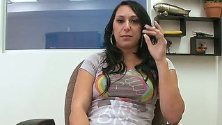 Riley Knight Amazes With Her Wonderful Pair Of Tits While Attending To A Casting