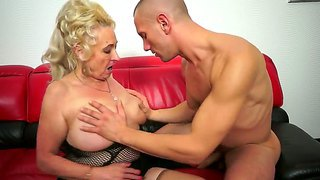 Old Blonde Sila Was Always Slutty Babe And Today She Got A Hot And Powerful Cock In Her Vagina