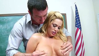 Jordan Ash Fucking Hard His Tight And Big Boobed Blonde Teacher Shyla Stylez Right In Her Classroom On Her Desk