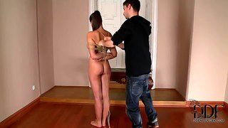 Heavy Chested Naked Whore Zafira Gets Tied Up