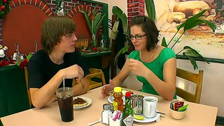 Hot Date With Handsome Nerdy Guy Bobbi Starr And His Girl
