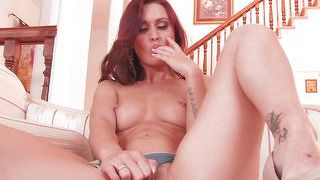 Rehead Milf With Big Booty Fingering Her Pussy