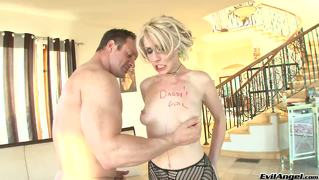 Daddy's Girl Punished! A Big Cock Will Go Far In Her Asshole