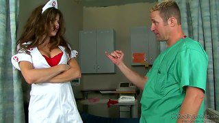 Big Breast Nurse Fucks With Main Doctor In The Hospital.