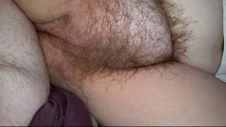 Rubbing Wifes Hairy Pussy, She Rubs Her Own Pussy,ass Fuck