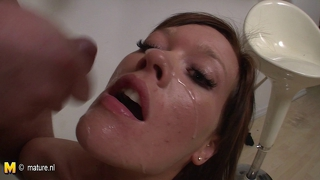 Mature Mother Suck And Fuck Two Young Guys