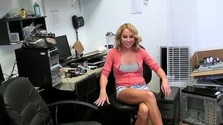 Office Worker Chick In Sexy Clothes And Horny Soul Is Happy To Meet Us