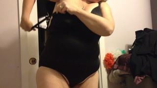 Putting Her Black Girdle Over Her Big Tittys,