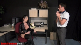 Pegged by his boss