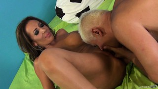 Richelle ryan takes part in a very amusing sex scene with big stud