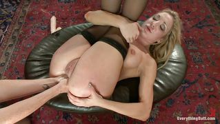 Blonde Fisted With Both Hands