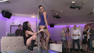 Aleska Diamond And Aletta Ocean Got Their Holes Stuffed With Dicks After Private Dance At The Pole