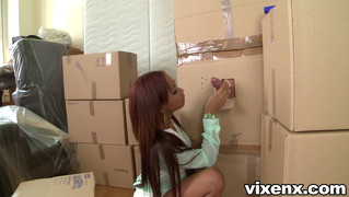 Hot Latina Katia Finds A Cock In A Box