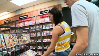 Brandy aniston goes on her first blind date and plays in the store