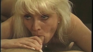 Sexy Blonde Milf In Stockings Fucks With A Younger Lover