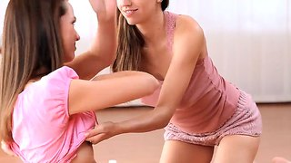 Nicca with clean bush and eufrat stars in hot lesbian action