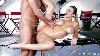 Toni ribas gets his always hard snake sucked by abbey brooks with gigantic boobs