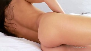 Gentle Baby Mara Loves To Masturbate On The Bed With Her Playful And Wet Fingers