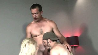 A Hot Blonde Has A Threesome With Bi Guys