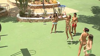 Ivana And Friends Play Outdoor Games Naked