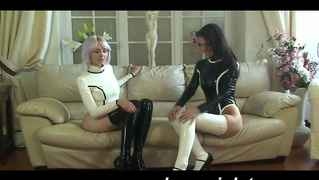 Latex Babes Licking And Fucking