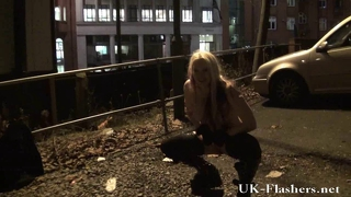 Kazb Night Of Exhibitionism And Blonde English Pornstar