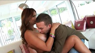 Monique Fuentes Strips Outside And Enjoys A Yummy Rod