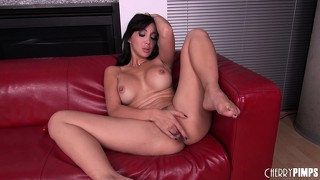 Katsuni welcomes her male co-star into her hardcore sex show