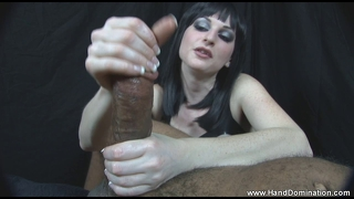 Interracial Humiliation Handjob She Hates Small Dicks