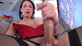 Dicky Brunette Danika Dreamz Kills Time Jerking Off