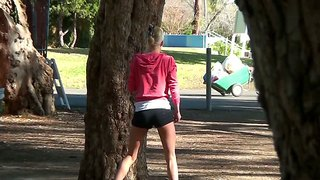 A Gorgeous Blonde Is Picked Up In The Park