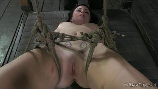 Dark Haired Cutie Tied And Whipped