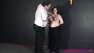 Chubby Amateur Submissives Breast Bondage And English Slave